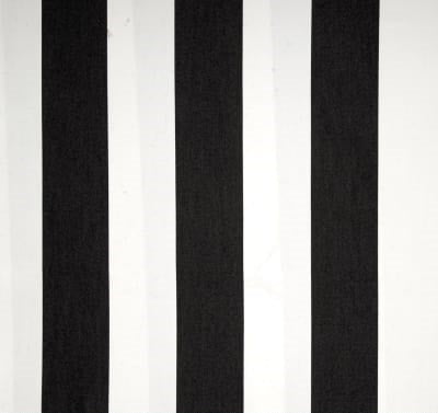 Sunbrella Cabana Black and White Stripe Outdoor Cushion Cover