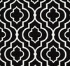 Moroccan Black and White Geometric Outdoor Fabric