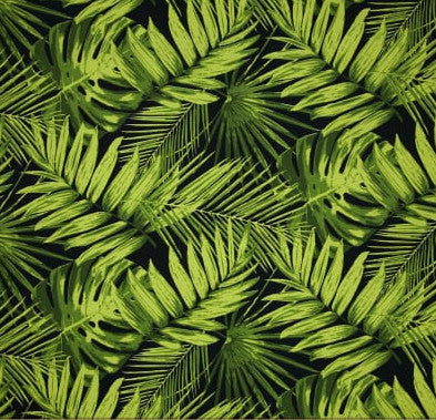 Terrasol Outdoor Tropical Fronds Ebony