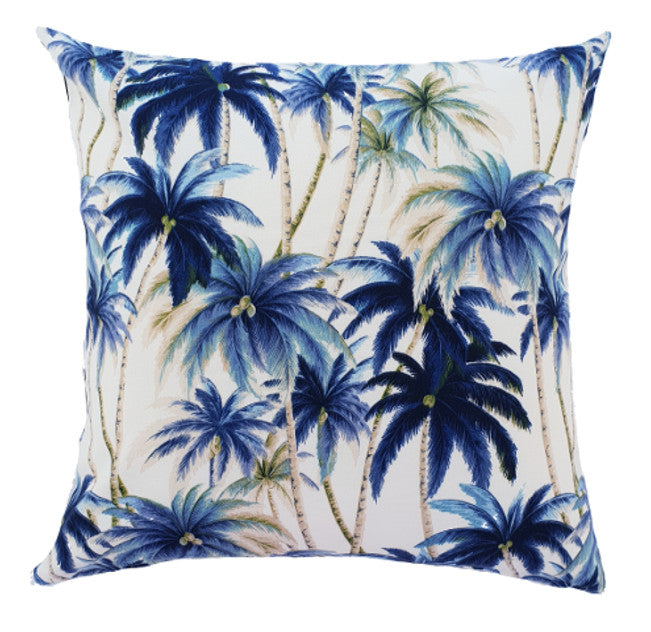 Tommy Bahama blue tropical palms Outdoor Cushion cover