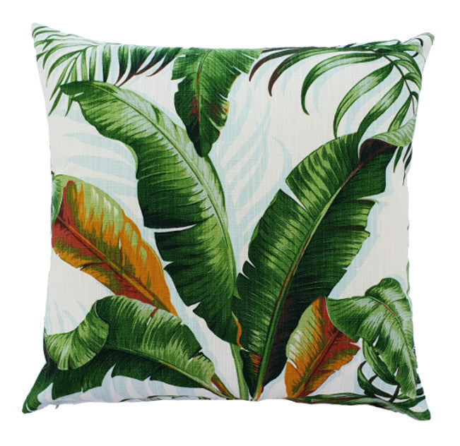 Tommy bahama indoor banana leaf cushion cover tropical