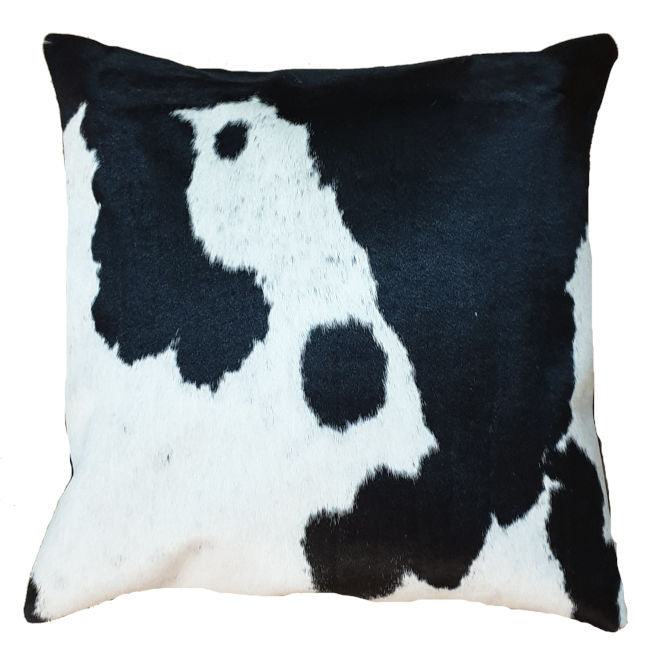 White and Black Cowhide Cushion Cover 45cm