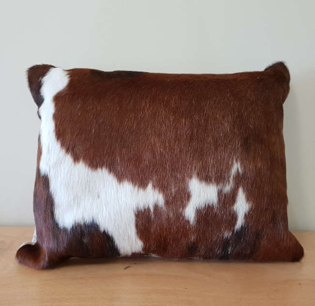 Brown and White Brindle Cowhide 35cm x 50cm