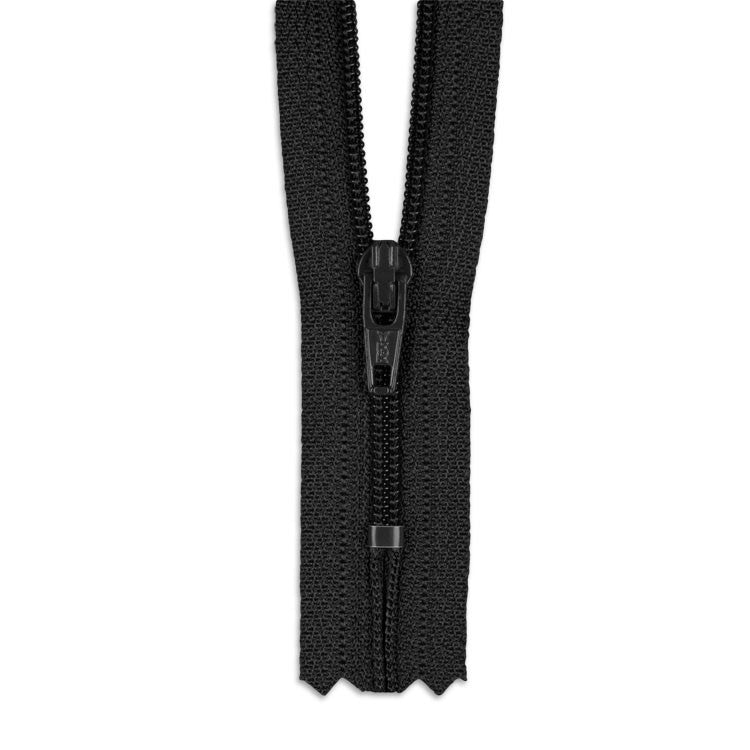 "YKK 14"" Black Zip # 3 Closed End Zipper"