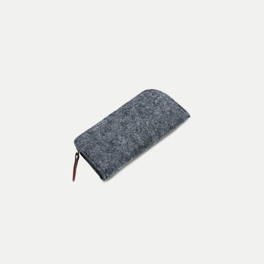basic slim felt pencil case