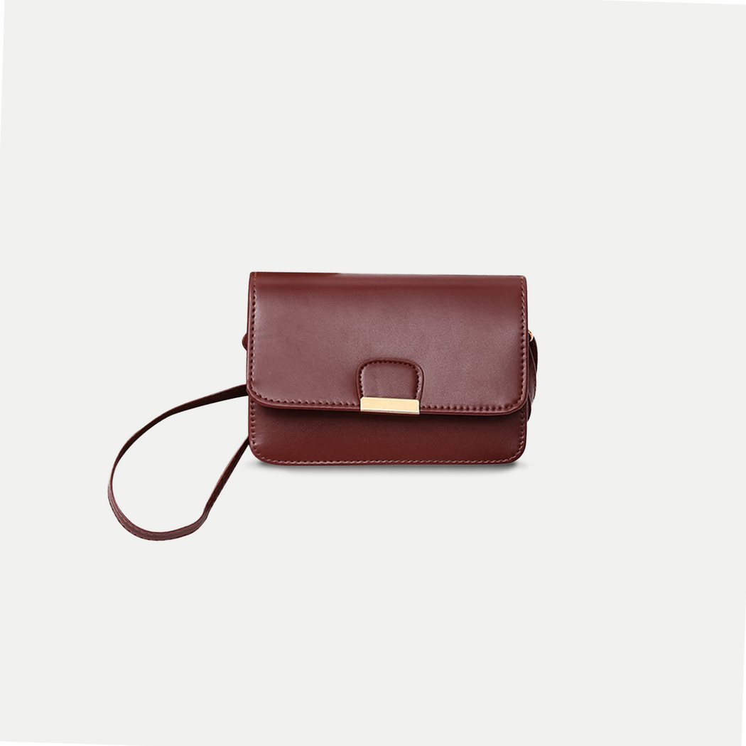 simple leather crossbody bag