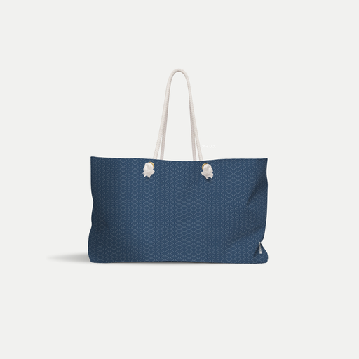 basic seigaiha wave tote bag