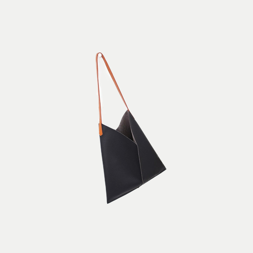 minimalist tote bag with pouch