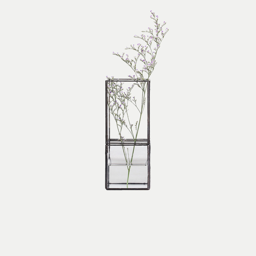 japanese style rectangle glass terrarium
