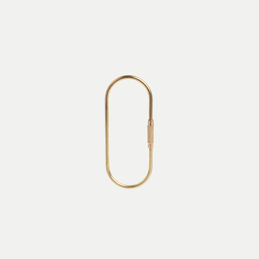 simple brass keyring