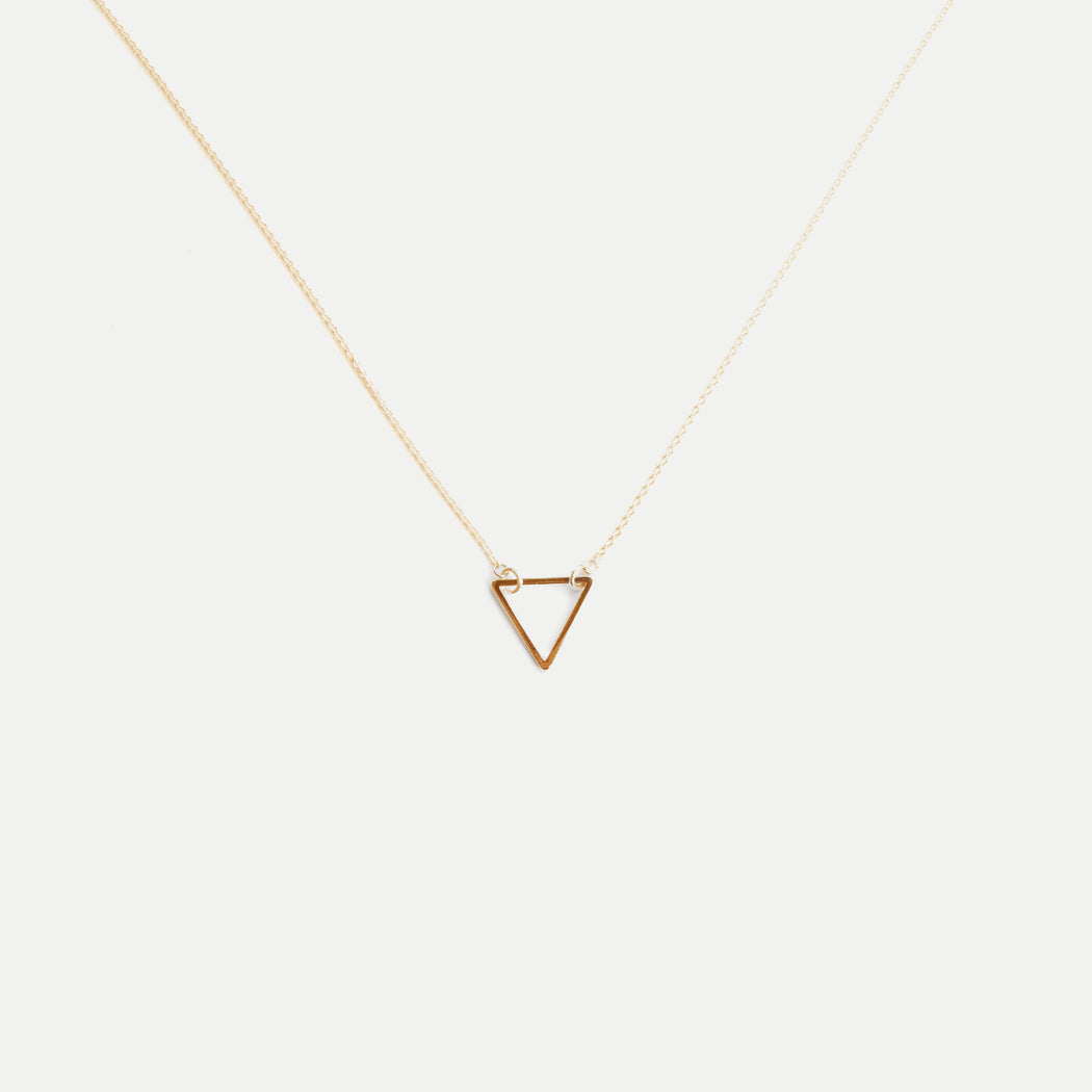 Simple multilayer round disc pendants necklace giveaway airisu simple triangle pendant necklace giveaway aloadofball Choice Image