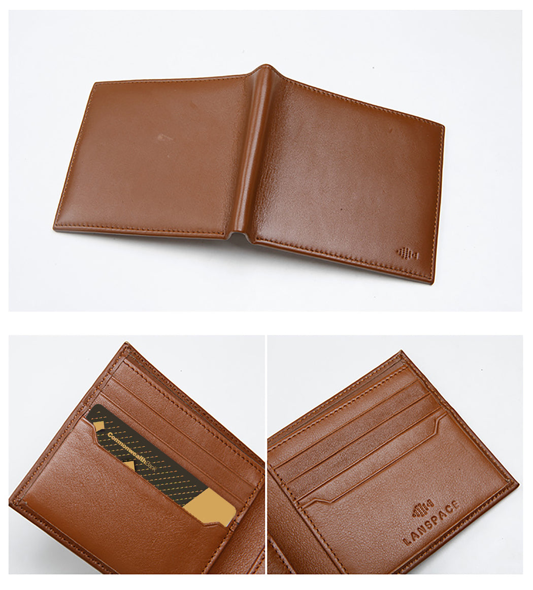 basic leather 8 cards slot wallet