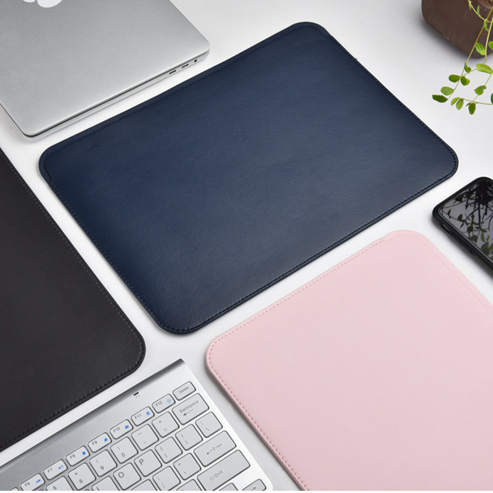 slim leather laptop sleeve