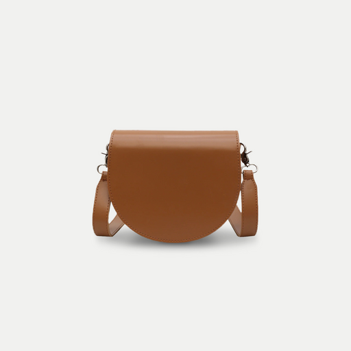 simple leather saddle bag
