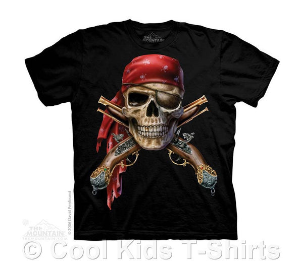 Skull & Muskets Kids Tie Dye Pirate T-Shirt