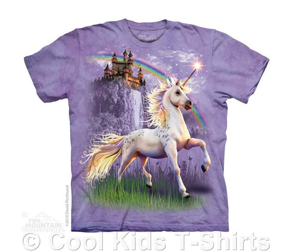 Unicorn Castle Kids Tie Dye T-Shirt