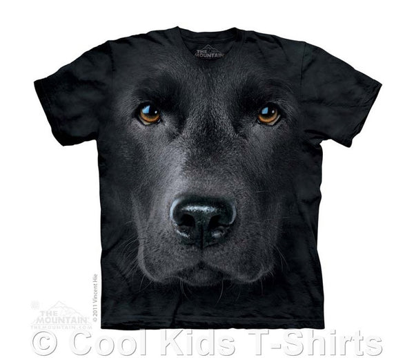 Black Labrador Face Kids Tie Dye T-Shirt