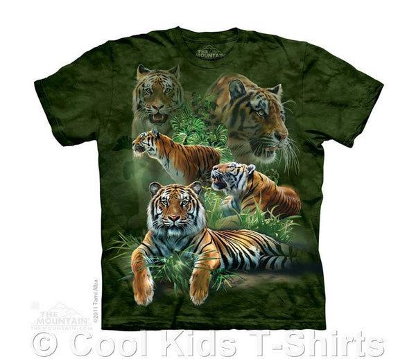 Jungle Tigers Kids Tie Dye T-Shirt