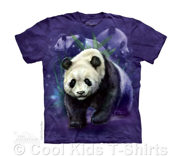 Panda Collage Kids Tie Dye T-Shirt