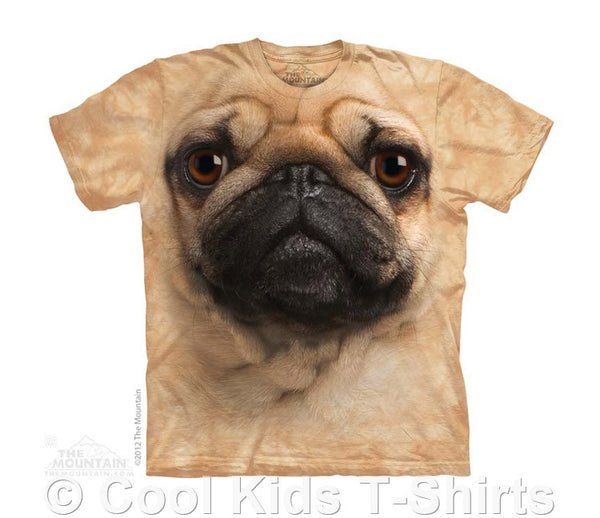 Pug Face Kids Tie Dye T-Shirt