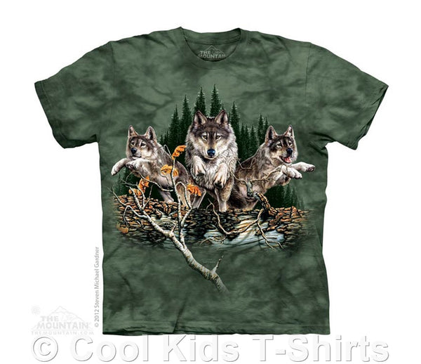 Find 12 Wolves Kids Tie Dye T-Shirt