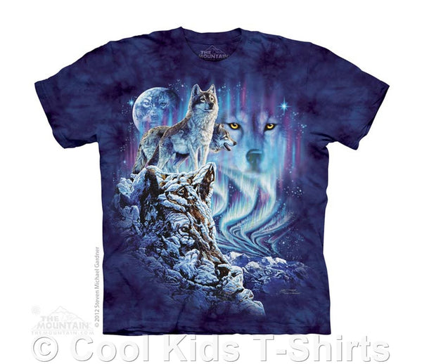 Find 10 Wolves Kids Tie Dye T-Shirt