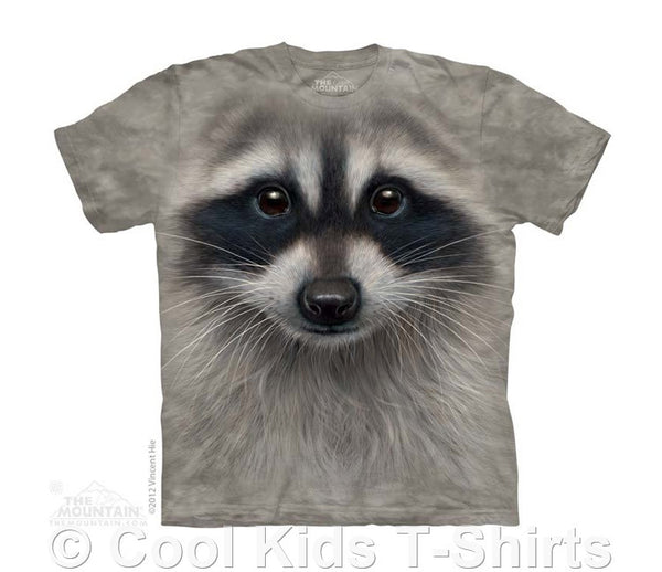 Raccoon Face Kids Tie Dye T-Shirt