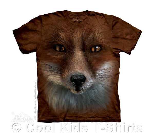 Big Face Fox Kids Tie Dye T-Shirt