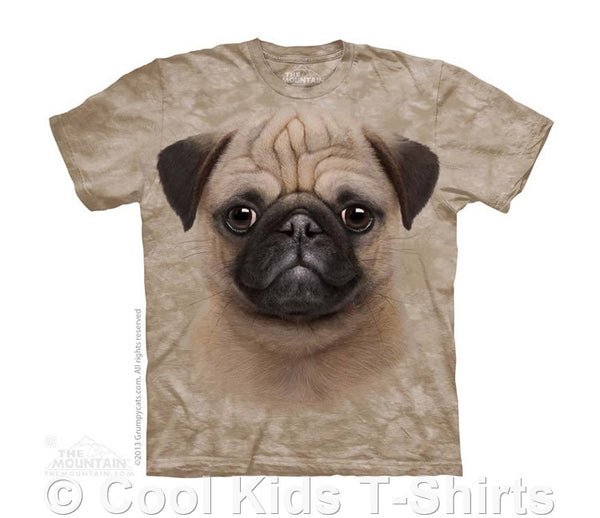 Pug Puppy Kids Tie Dye T-Shirt