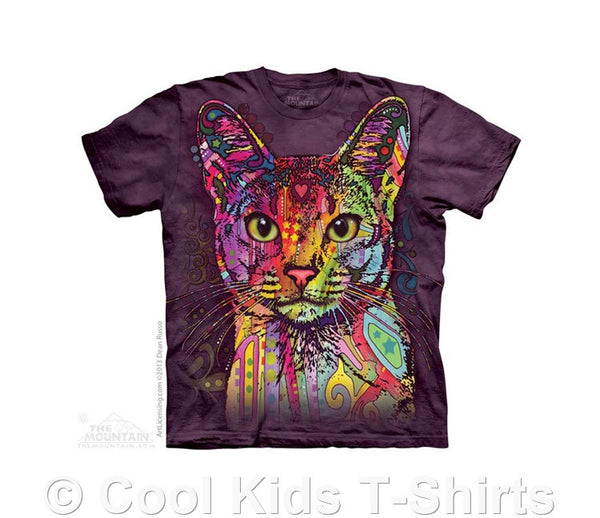 Abyssinian Cat Kids Tie Dye T-Shirt