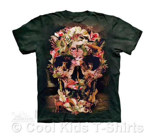 Wildlife (Jungle) Skull Kids Tie Dye T-Shirt