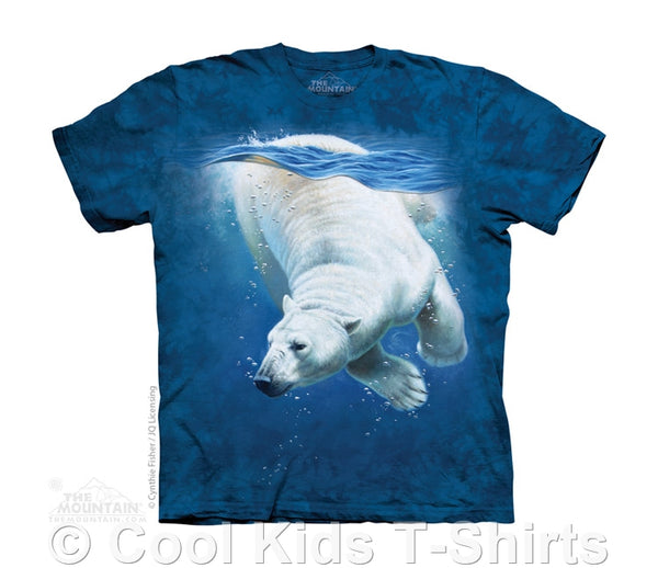 Polar Bear Dive Kids Tie Dye T-Shirt