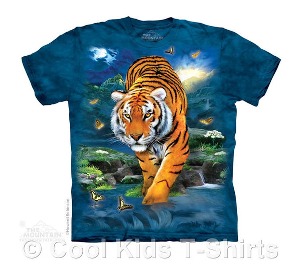3D Tiger Kids Tie Dye T-Shirt