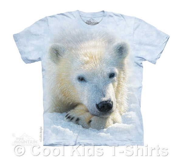 Polar Bear Cub Kids Tie Dye T-Shirt