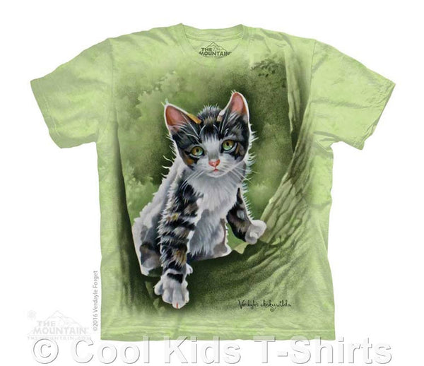 Tree Kitten Kids Tie Dye T-Shirt