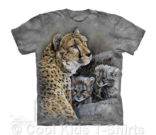 Cat's Home Kids Tie Dye Cheetah T-Shirt