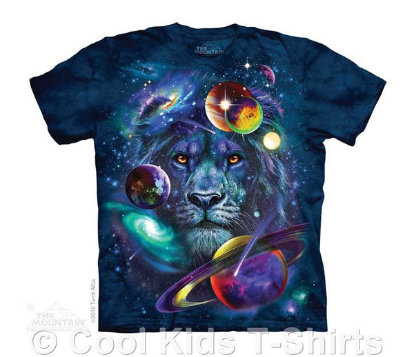 Lion of the Cosmos Kids Tie Dye T-Shirt