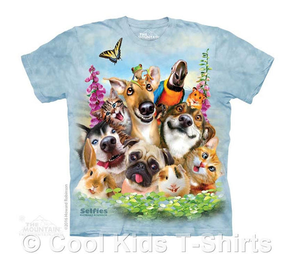 Pet Selfie Kids Tie Dye T-Shirt