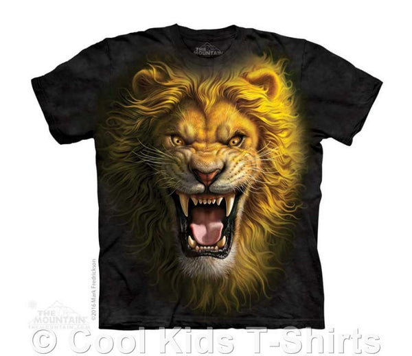Asian Lion Face Kids Tie Dye T-Shirt