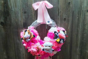 Welcome Baby With a Gorgeous Gender Reveal Wreath