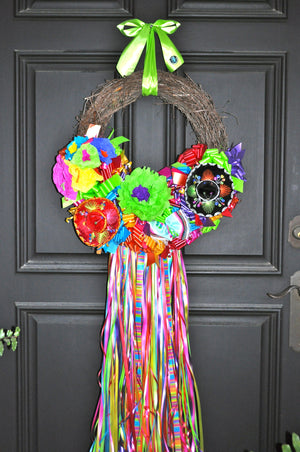 On The Rio Fiesta Wreath with Ribbons - Bonnie Harms Designs