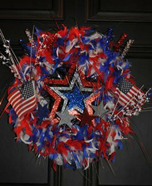 All American Wreath - Bonnie Harms Designs