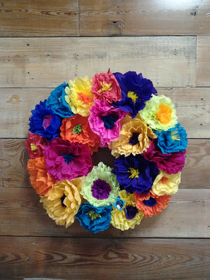 La Bonita Paper Flower Fiesta Wreath - Bonnie Harms Designs