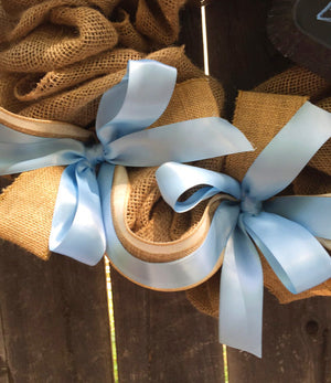 Baby Boy Burlap Wreath - Bonnie Harms Designs