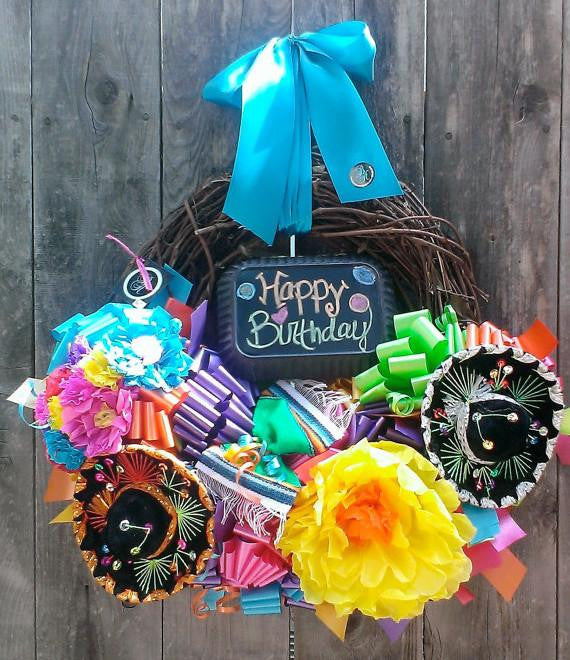 Sweet Caitlin Happy Birthday Wreath