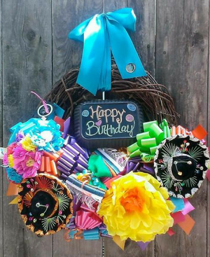 Sweet Caitlin Happy Birthday Wreath - Bonnie Harms Designs