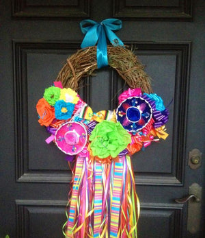 "On The Rio Fiesta Wreath - 16"" - Bonnie Harms Designs"