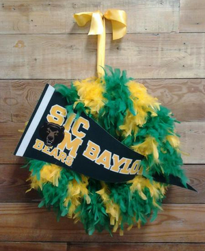 Baylor Wreath - Bonnie Harms Designs