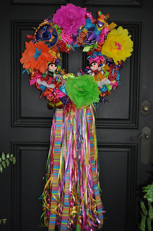 San Antonio Fiesta Wreath - Bonnie Harms Designs