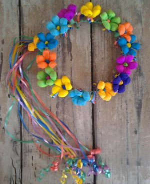 Fiesta Paper Flower Crown - Bonnie Harms Designs